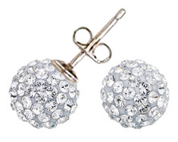 Swarovski Crystal Pave Stud Earrings April