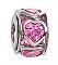 Heart Wheel, Pink CZ